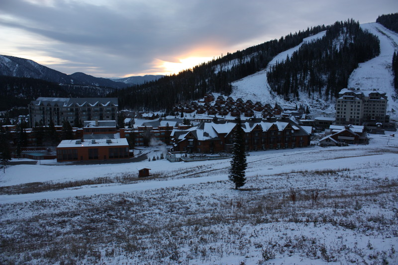 Big Sky Resort on a frozen morning